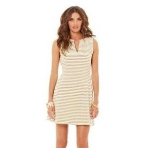 LILLY PULITZER BRIELLE GOLD DRESS💛